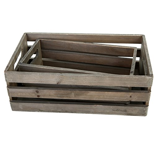 MyGift-Distressed-Wood-Nesting-Boxes-Storage-Crates-w-Handles-Set-of-2-Gray-0-1
