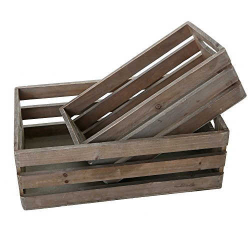 MyGift-Distressed-Wood-Nesting-Boxes-Storage-Crates-w-Handles-Set-of-2-Gray-0