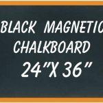 NEOPlex-24-x-36-Wood-Framed-Black-MAGNETIC-Chalkboard-0