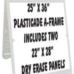 NEOPlex-25-x-36-Poly-Plastic-Sidewalk-Sandwich-Board-A-frame-Sign-wDry-Erase-Insert-Panels-0