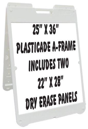 NEOPlex 25″ x 36″ Poly-Plastic Sidewalk Sandwich Board A-frame Sign ...