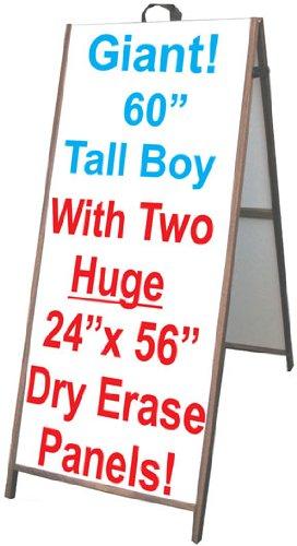 NEOPlex-25-x-60-Sidewalk-A-frame-Sandwich-Board-Sign-wDry-Erase-Insert-Panels-0