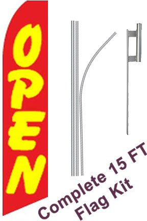 Neoplex Open Red Complete Flag Kit Includes 12