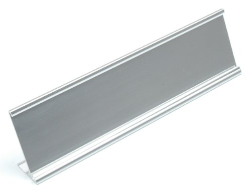 Name-Plate-Holder-Desk-Silver-2×8-Pack-of-10-0
