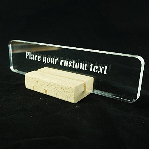 name plate wood stand led reading light office desk office supply