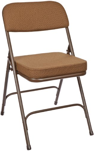National-Public-Seating-3200-Series-Steel-Frame-Upholstered-Premium-Fabric-Seat-and-Back-Folding-Chair-with-Double-Brace-300-lbs-Capacity-Antique-GoldBrown-Carton-of-2-0
