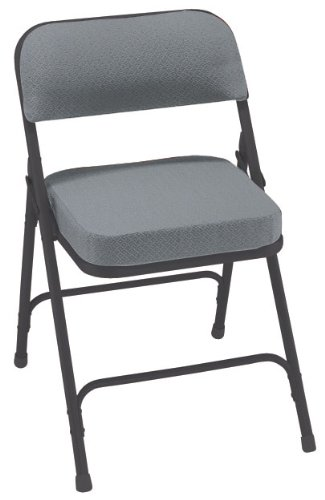 National-Public-Seating-3200-Series-Steel-Frame-Upholstered-Premium-Fabric-Seat-and-Back-Folding-Chair-with-Double-Brace-300-lbs-Capacity-Charcoal-GrayBlack-Carton-of-2-0