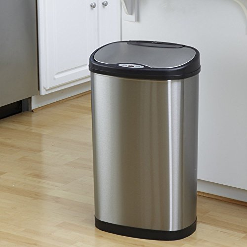 Nine-Stars-DZT-50-13-Touchless-Stainless-Steel-132-Gallon-Trash-Can-0