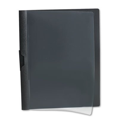 No-Punch-Report-Cover-25-Pack-by-Oxford-No-Need-to-Hole-Punch-Your-Documents-Strong-Metal-Clip-Holds-30-Pages-in-Place-Clear-Front-Cover-Black-Vinyl-Backing-Sliding-Bar-Retention-Size-85×11-0-0