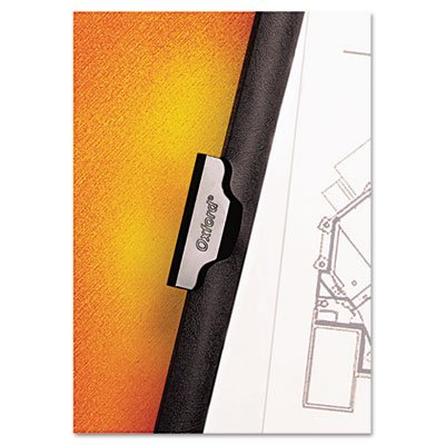 No-Punch-Report-Cover-25-Pack-by-Oxford-No-Need-to-Hole-Punch-Your-Documents-Strong-Metal-Clip-Holds-30-Pages-in-Place-Clear-Front-Cover-Black-Vinyl-Backing-Sliding-Bar-Retention-Size-85×11-0-1
