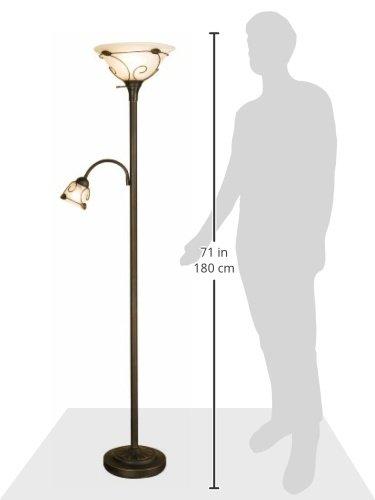 Normande-Lighting-JM1-884-71-Inch-100-Watt-Incandescent-Torchiere-Floor-Lamp-with-40-Watt-Side-Reading-Lamp-0-0