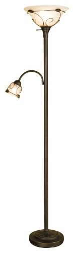 Normande-Lighting-JM1-884-71-Inch-100-Watt-Incandescent-Torchiere-Floor-Lamp-with-40-Watt-Side-Reading-Lamp-0
