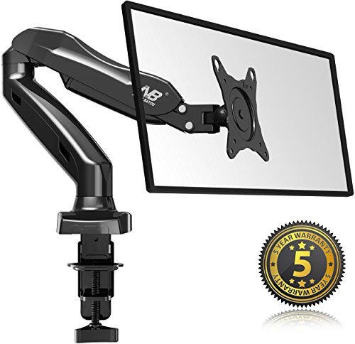 North-Bayou-Full-Motion-Desk-Mount-with-Mount-and-Gas-Spring-for-Computer-Monitors-17-27-LED-LCD-Flat-Panel-TVs-from-44lbs-upto-143lbs-F80-0