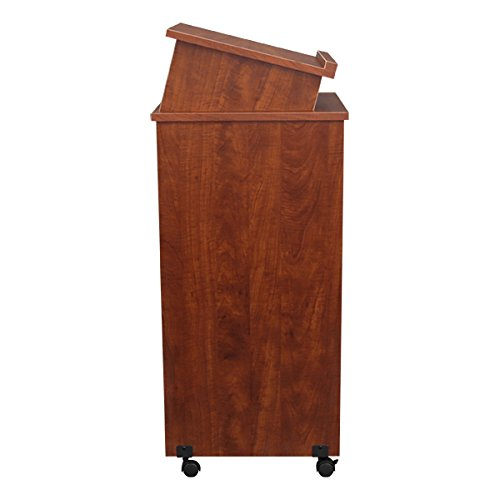 Norwood-Commercial-Furniture-NOR-TIR1034-SO-Mobile-Rolling-Lectern-Cherry-0-0