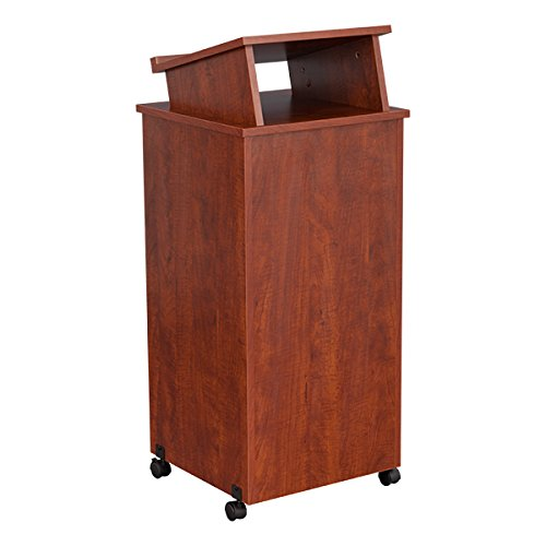Norwood-Commercial-Furniture-NOR-TIR1034-SO-Mobile-Rolling-Lectern-Cherry-0-1