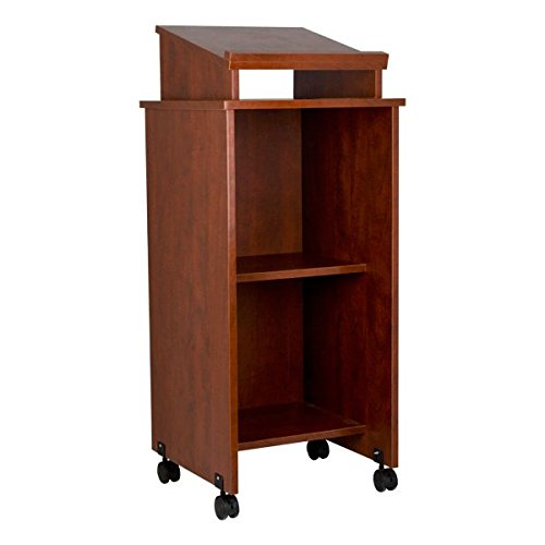 Norwood-Commercial-Furniture-NOR-TIR1034-SO-Mobile-Rolling-Lectern-Cherry-0