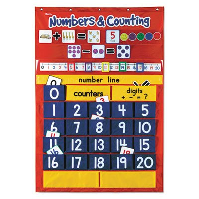 Numbers-Counting-Pocket-Chart-with-194-Cards-27-Pockets-28-x-38-12-Sold-as-1-Each-0