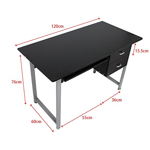 OGIMA-Compact-PC-Computer-Desk-Home-Office-Study-desk-Laptop-Table-With-2-Drawers-0-1