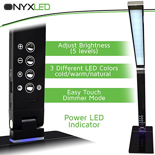 ONYXLED-LS1048-14W-Adjustable-LED-Touch-Desk-Lamp-with-3-Color-Temperatures-5-Level-Touch-Dimmer-USB-Charging-Port-Piano-Black-0-0