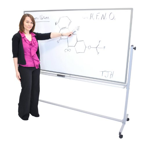 Offex-Mobile-72x40WxH-Inches-Double-Sided-Dry-Erase-Magnetic-Whiteboard-Easel-3-Pack-0