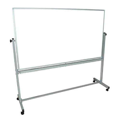Offex-Mobile-72x40WxH-Inches-Double-Sided-Dry-Erase-Magnetic-Whiteboard-Easel-With-Silver-Frame-4-Casters-0