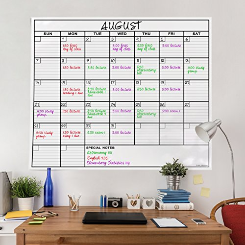 OfficeThink-Laminated-Jumbo-Calendar-Huge-36-Inch-by-48-Inch-Size-Extra-Large-Date-Boxes-Heavy-Duty-LaminatePaper-Never-Folded-Perfect-for-Organizing-Easy-Erase-Bonus-3M-Mounting-Tape-Included-0-0