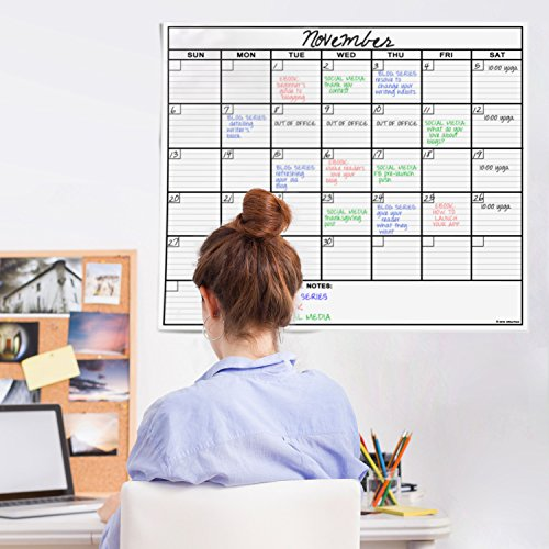 OfficeThink-Laminated-Jumbo-Calendar-Huge-36-Inch-by-48-Inch-Size-Extra-Large-Date-Boxes-Heavy-Duty-LaminatePaper-Never-Folded-Perfect-for-Organizing-Easy-Erase-Bonus-3M-Mounting-Tape-Included-0-1