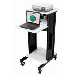 Oklahoma-Sound-PRC200-Steel-Premium-Presentation-Cart-18-Width-x-40-12-Height-x-30-Depth-Ivory-WoodgrainBlack-0