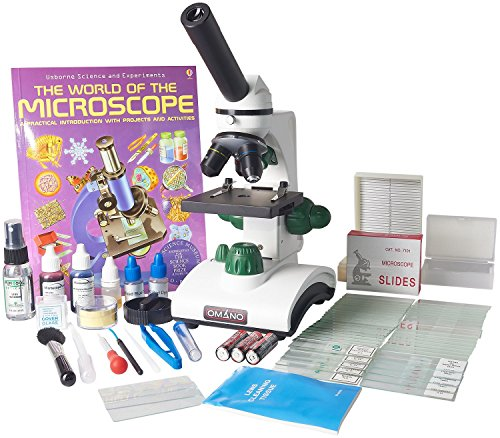 Omano-OM117L-XSP2-Student-Compound-Microscope-40X-400X-Gift-Package-Awarded-2016-Best-Kids-Microscope-By-TOP-TEN-Reviews-0