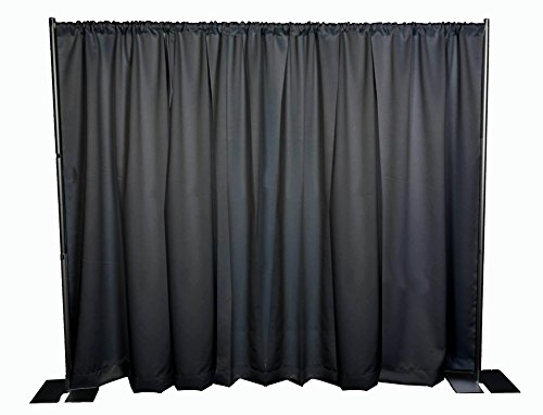 OnlineEEI-Black-Powdercoat-Portable-Pipe-and-Drape-Backdrop-Kit-Black-Drapes-0