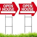 Open-House-Arrow-Shaped-Sign-Kit-with-Stands-4-Pack-Includes-4-signs-and-4-stands-0