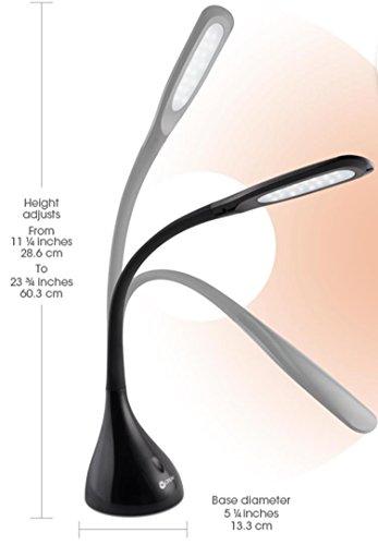 Ottlite A30g59 Ffp Creative Curves Led Desk Lamp Black