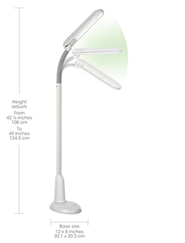 OttLite-L24554-Task-Plus-High-Definition-24-Watt-Floor-Lamp-Dove-Grey-0-0