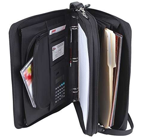 Padfolio-3-Ring-Binders-Folder-File-Divider-Organizer-Planner-w-Smart-Handle-Briefcase-Luggage-Portfolio-FREE-RETURN-0