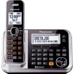 Panasonic-KX-TG7875S-Link2Cell-Bluetooth-Cordless-Phone-with-Enhanced-Noise-Reduction-Digital-Answering-Machine-5-Handsets-BlackSilver-0-0