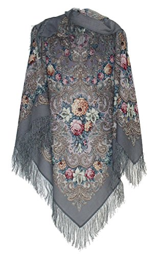 Pavlovoposadskiy-Platok-Womens-Russian-Wool-Shawl-With-Silk-Fringes-0-0