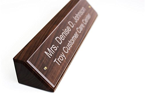 Personalized Wood Desk Name Plate The University Sign