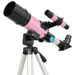 Pink-Twinstar-60mm-Compact-Kids-Refractor-Telescope-0