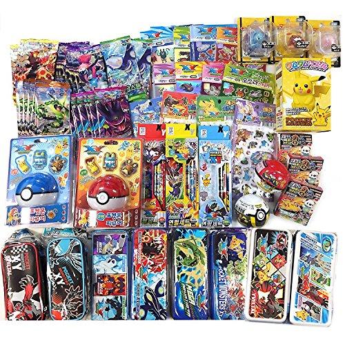 Pokemon-12-Assorted-Toy-Sticker-Card-Pokeball-School-Supply-Stationary-Gift-Set-0
