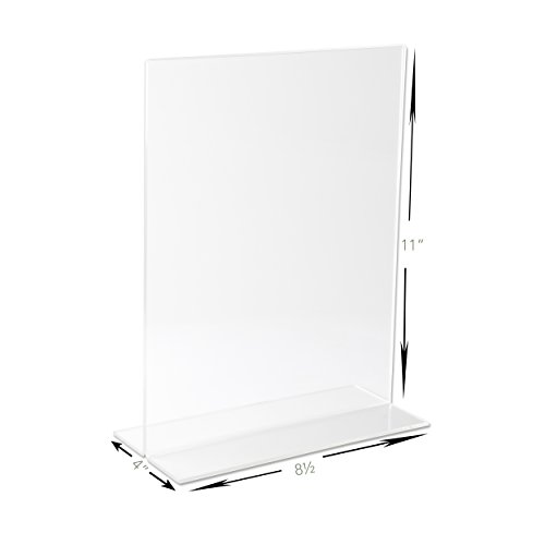 premium acrylic sign holder 85 x 11 inch