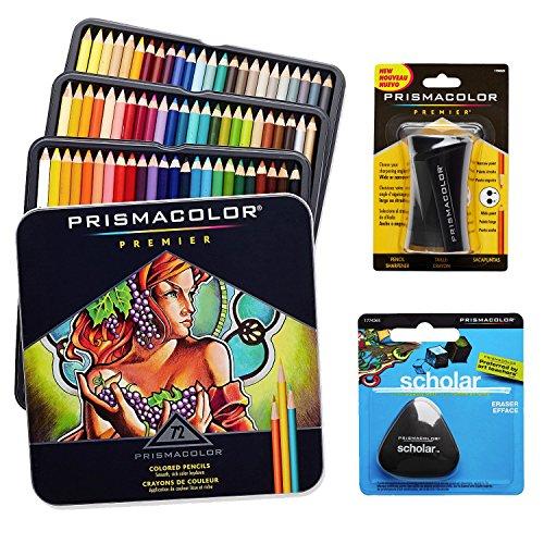Prismacolor-Colored-Pencils-Box-of-72-Assorted-Colors-Triangular-Scholar-Pencil-Eraser-and-Premier-Pencil-Sharpener-0