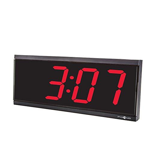 Pyramid-4-character-4-Digit-Red-LED-RF-Wireless-Digital-Clock-110V-9D44BR-0-0