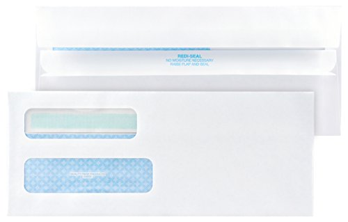 Quality-Park-10-Double-Window-Envelopes-Self-Sealing-Redi-Seal-500-Envelopes-24559-0