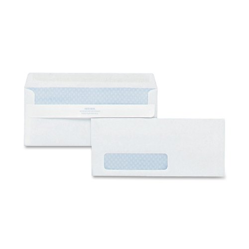 Quality-Park-21418-Quality-Park-Redi-Seal-Left-Window-Security-Tint-Envelopes-10-White-500Box-0