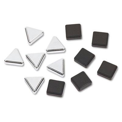 Quartet-2-Pack-Metallic-Magnets-Magnetic-Black-Silver-12Pack-Product-Category-PresentationDisplay-Scheduling-BoardsBoard-Accessories-0