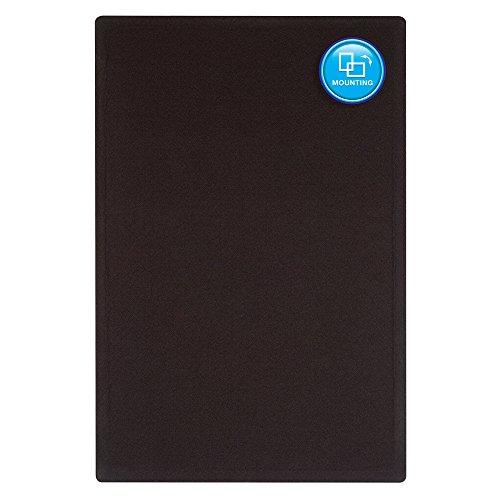 Quartet-Bulletin-Board-4-x-3-Feet-Frameless-Fabric-Office-Bulletin-Boards-Black-7684BK-0-1