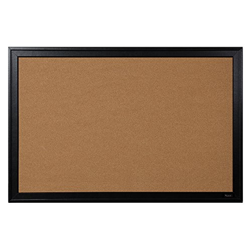 Quartet-Bulletin-Board-Cork-24×36-Black-Frame-13769-0