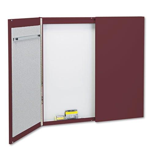 Quartet-Cabinet-FabricPorcelain-on-Steel-48-x-48-x-2-MauveWhite-Mahogany-Frame-878-DMi-EA-0