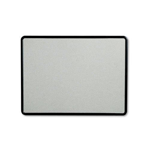 Quartet – Contour Fabric Bulletin Board, 48 x 36, Gray, Plastic ...
