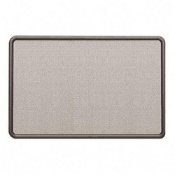 Quartet-Contour-Gray-Fabric-Bulletin-Boards-4-x-3-Feet-Gray-Plastic-Frame-7694G-0